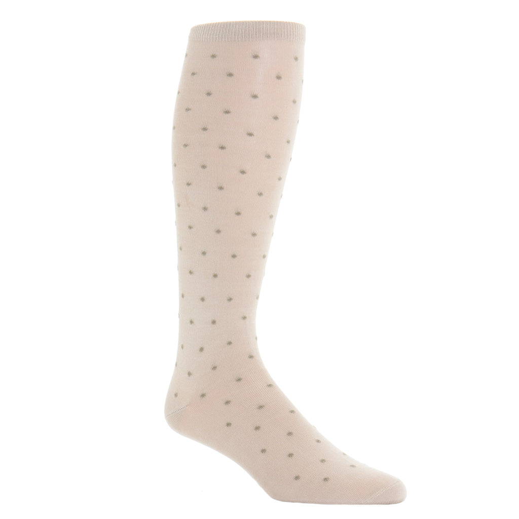 Over-The-Calf-Tan-Taupe-Cotton-Sock