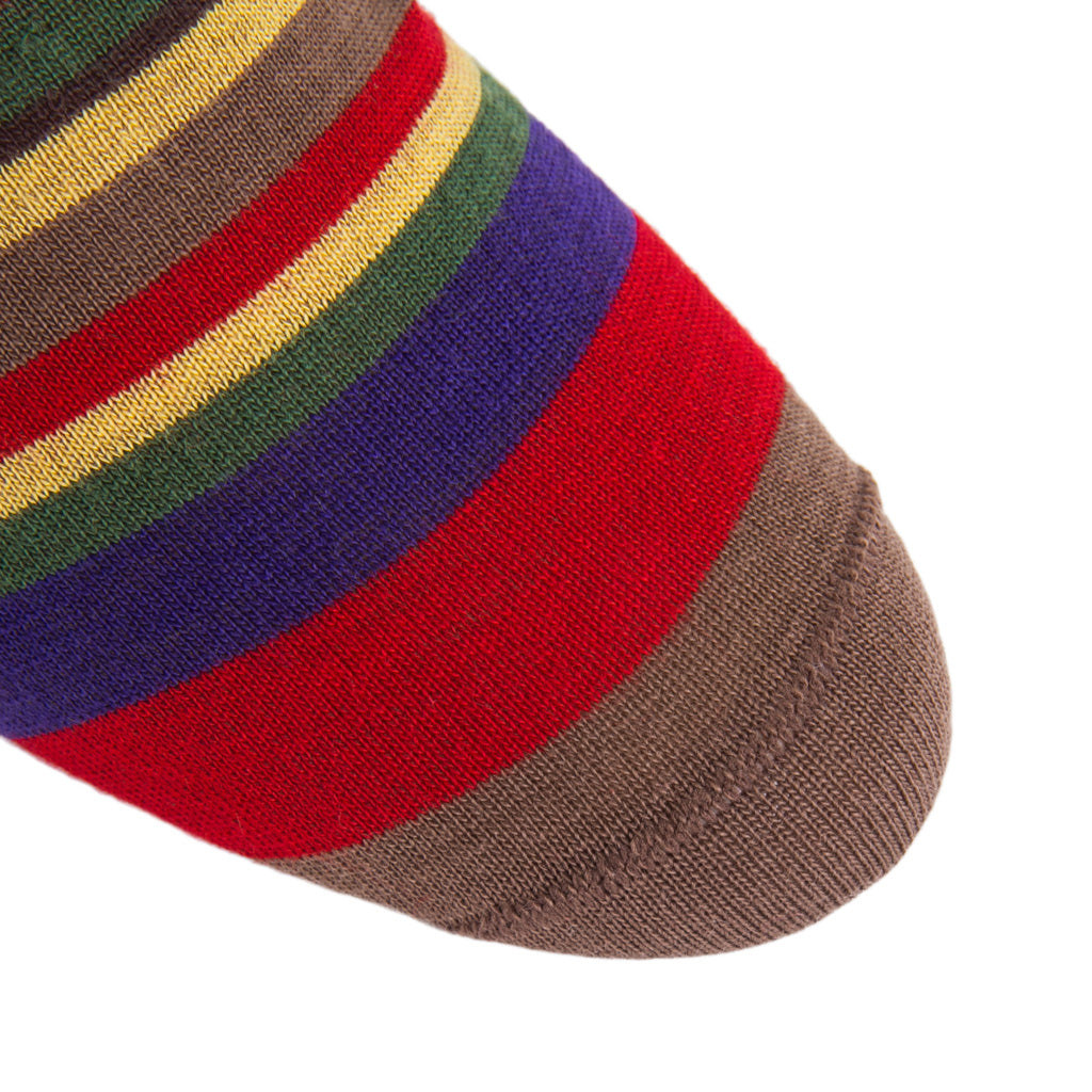 Linked-Toe-Wool-Striped-Sock