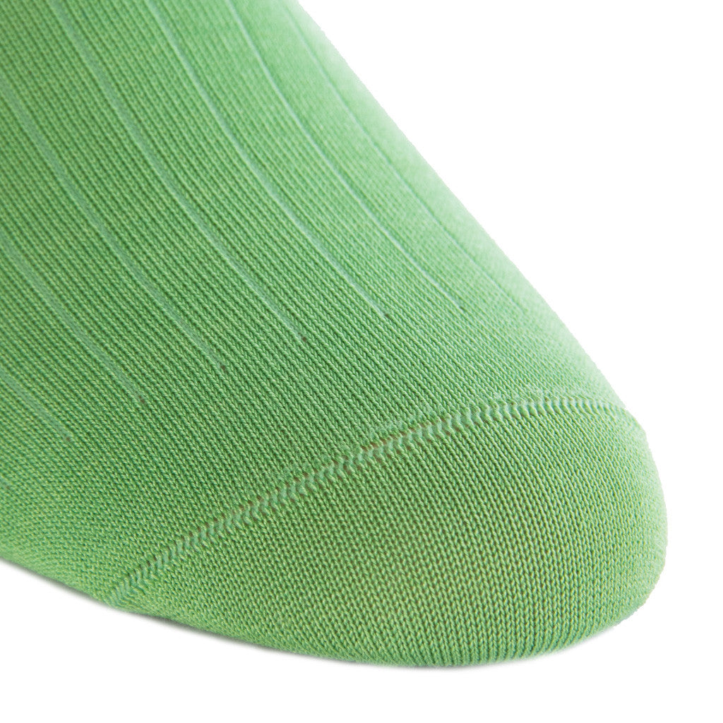 Green Grass Ribbed Linked Toe Mid-Calf - mid-calf - dapper-classics