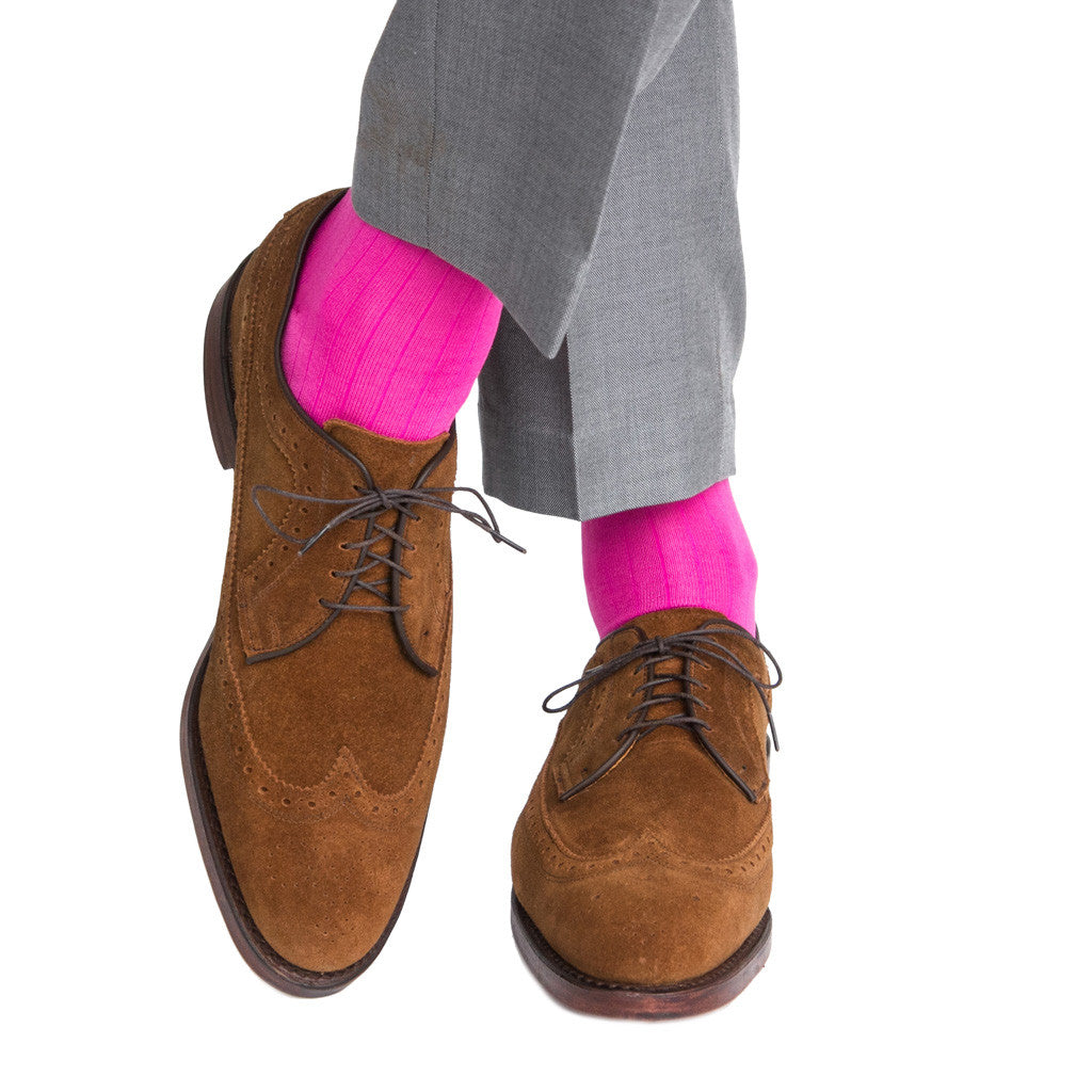 Rose Ribbed Linked Toe Mid-Calf - mid-calf - dapper-classics