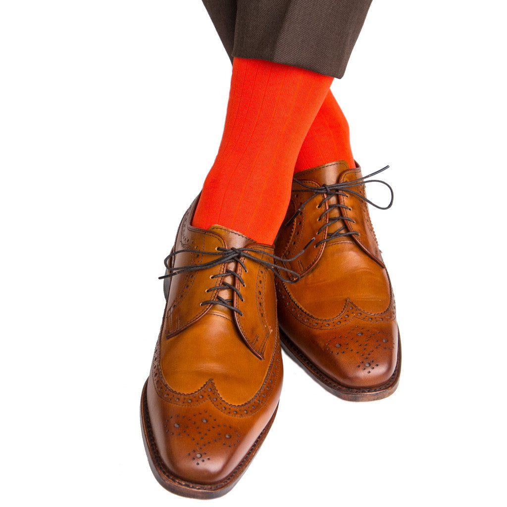 Tigerlily Ribbed Sock Linked Toe OTC - over-the-calf - dapper-classics