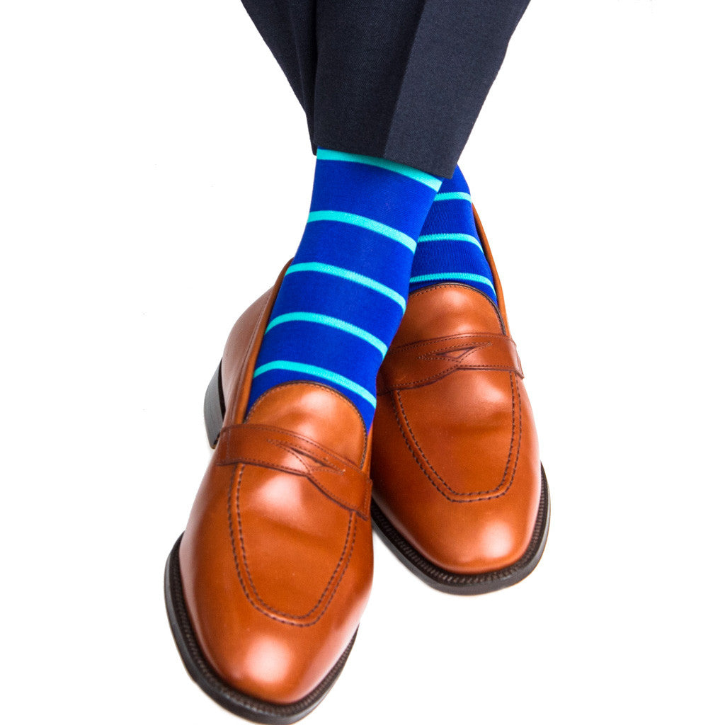 Stripe Linked Toe OTC - over-the-calf - dapper-classics