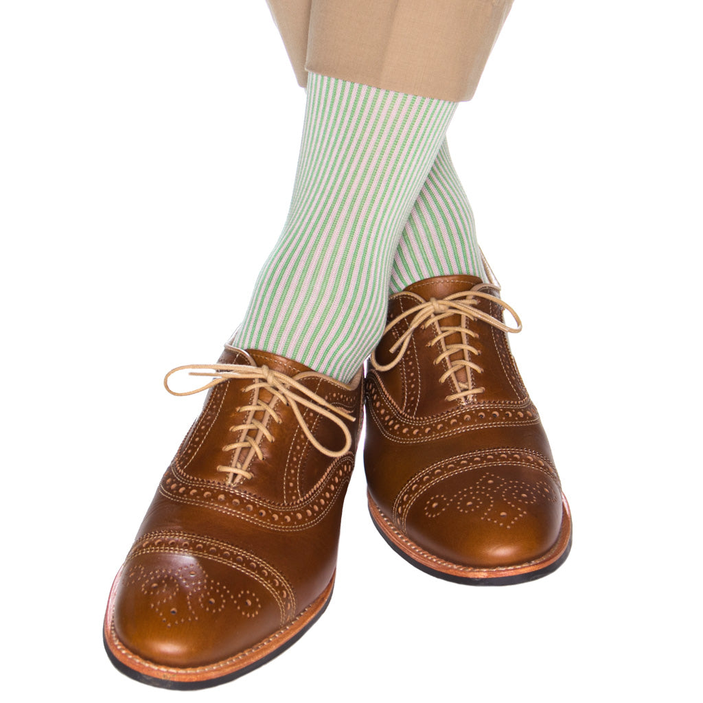 grass-vertical-stripe-sock
