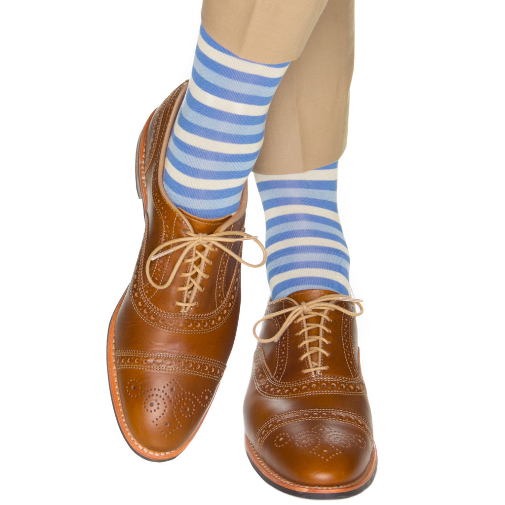 azure-stripe-dot-sock
