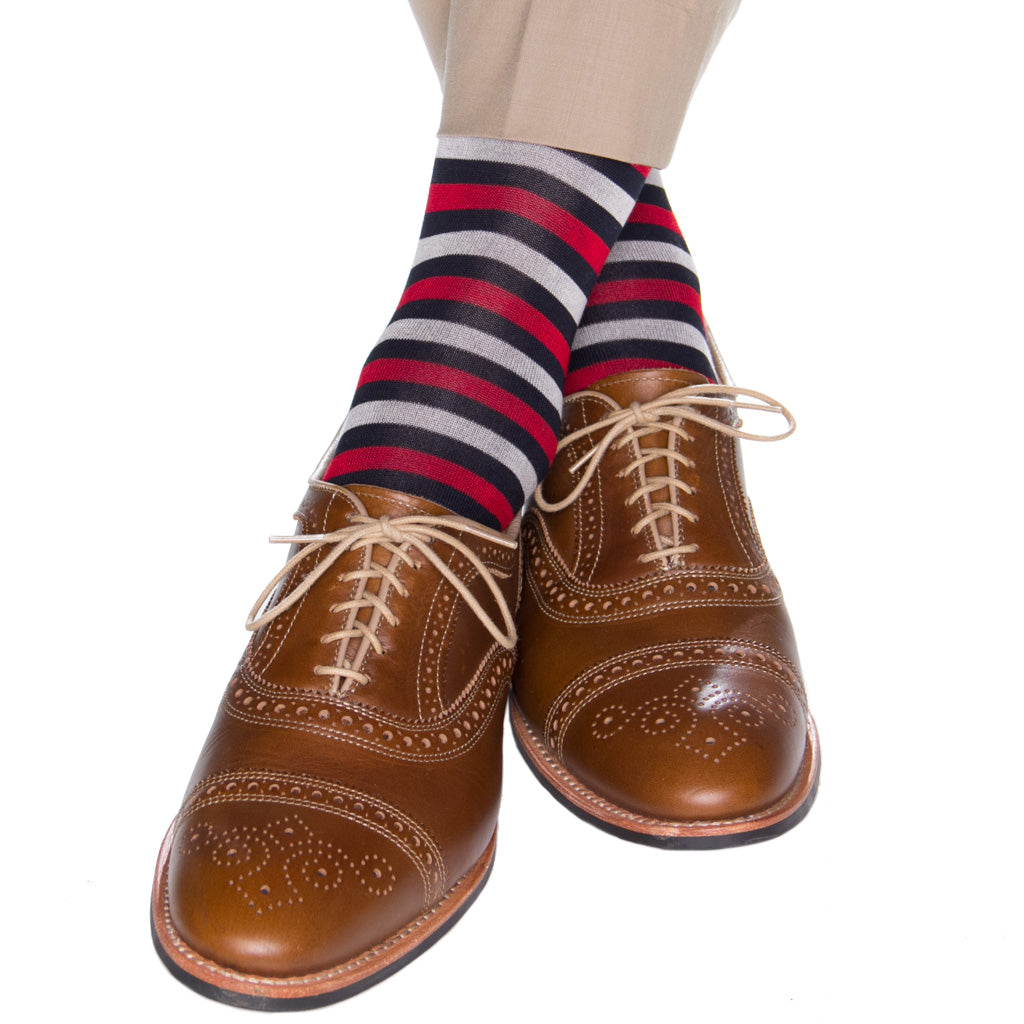 navy-stripe-dot-sock