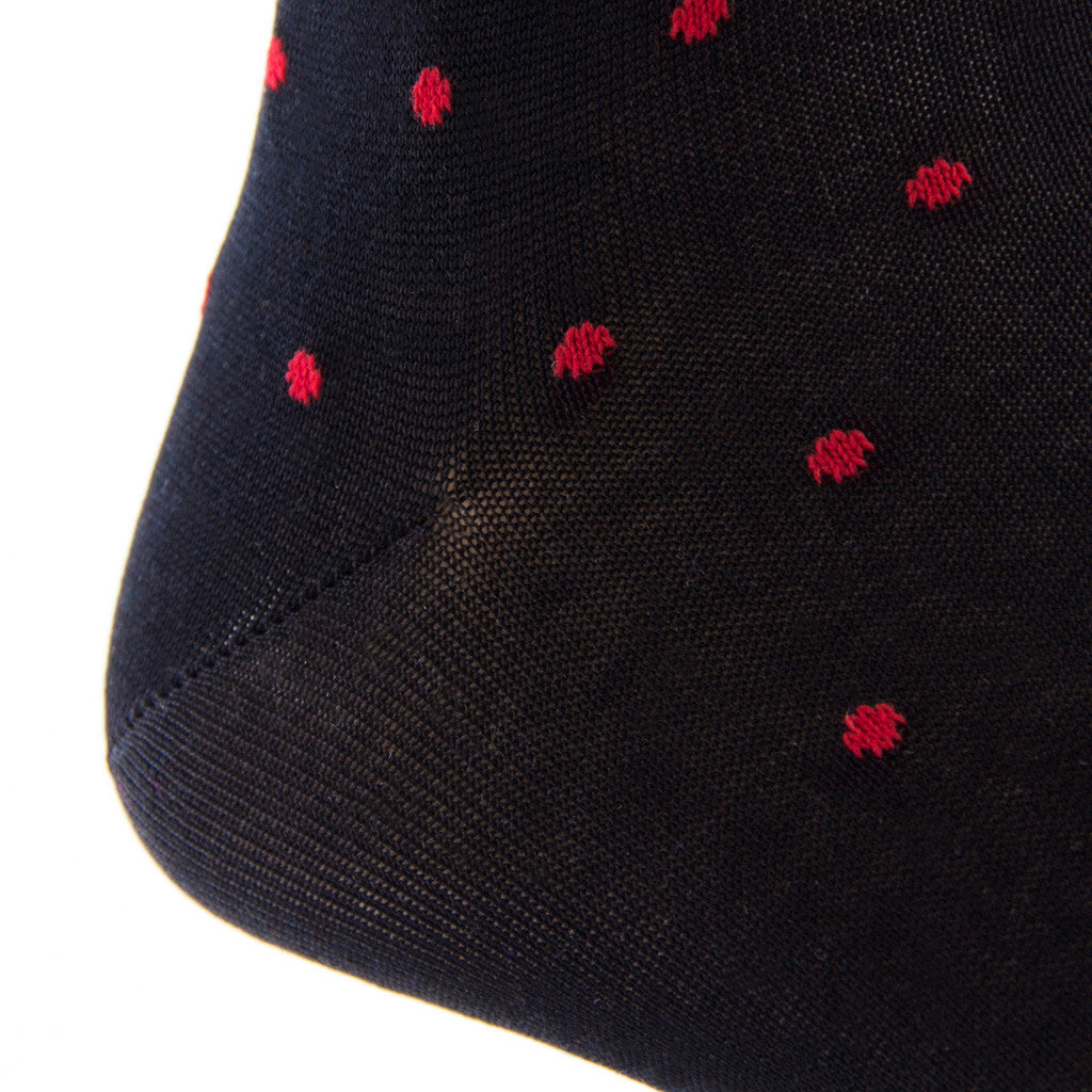 Mens-Black-Dress-Socks-with-Dots
