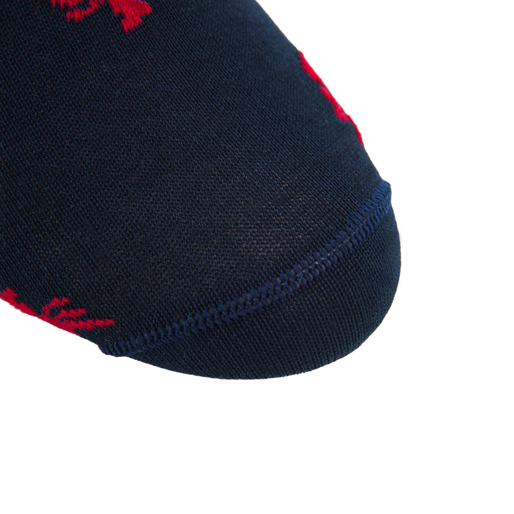 navy-red-sock