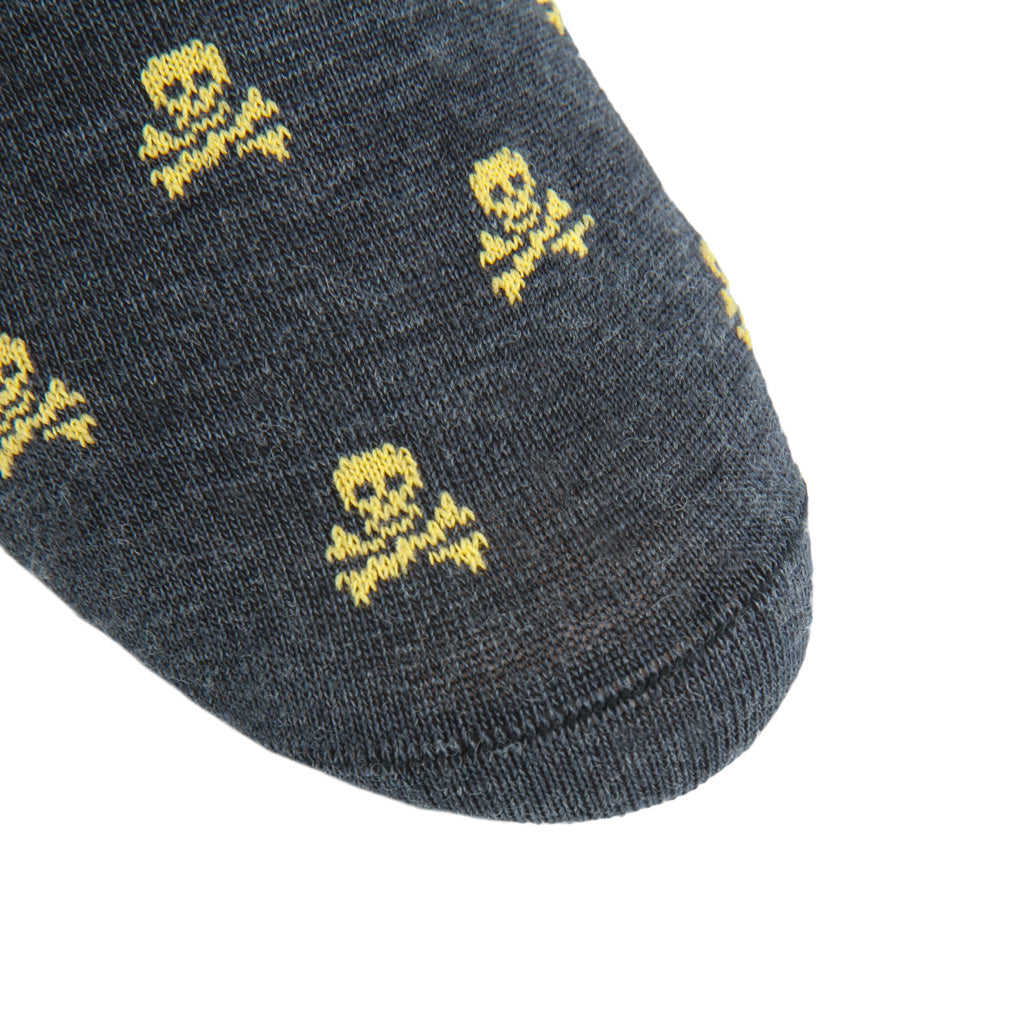 Linked-toe-Skull-Crossbones-Wool