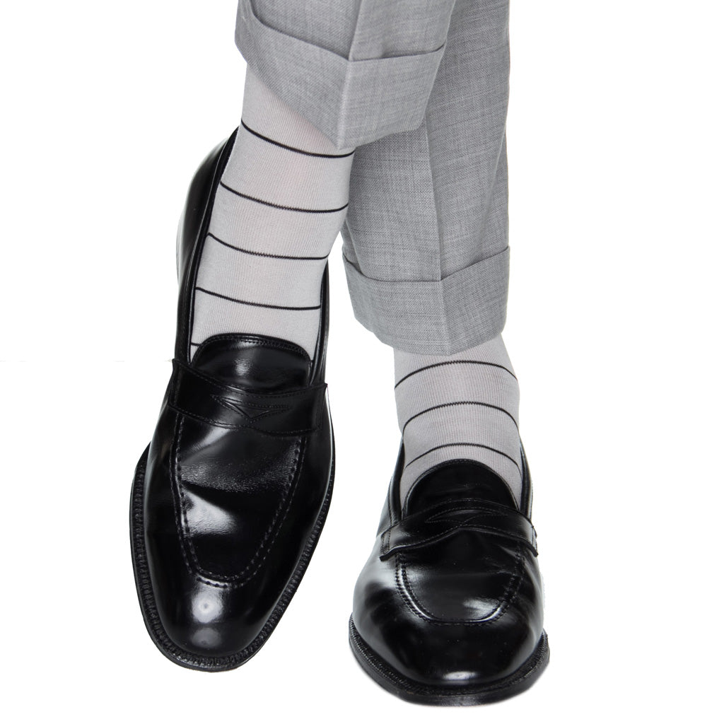 black-stripe-sock
