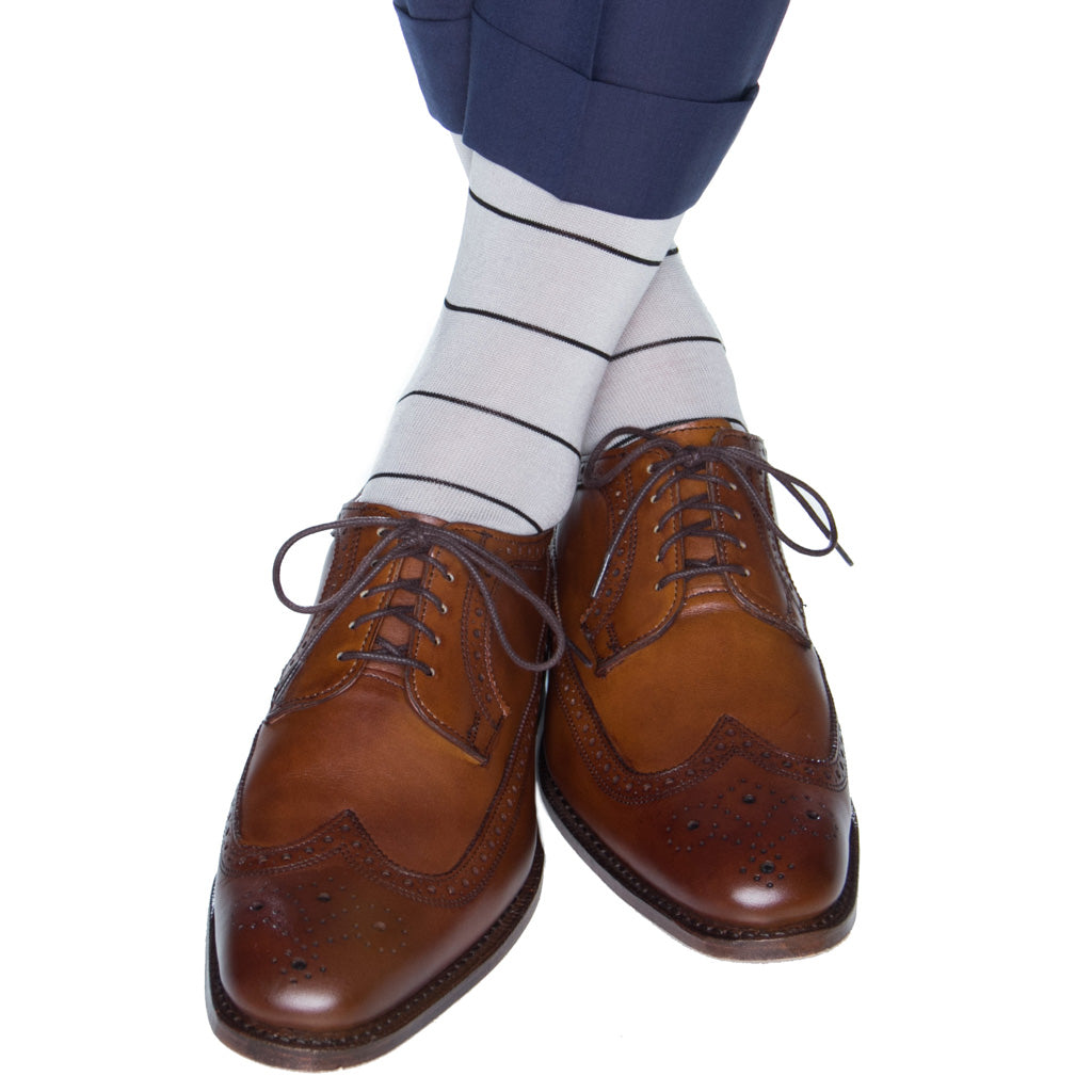 narrow-stripe-sock