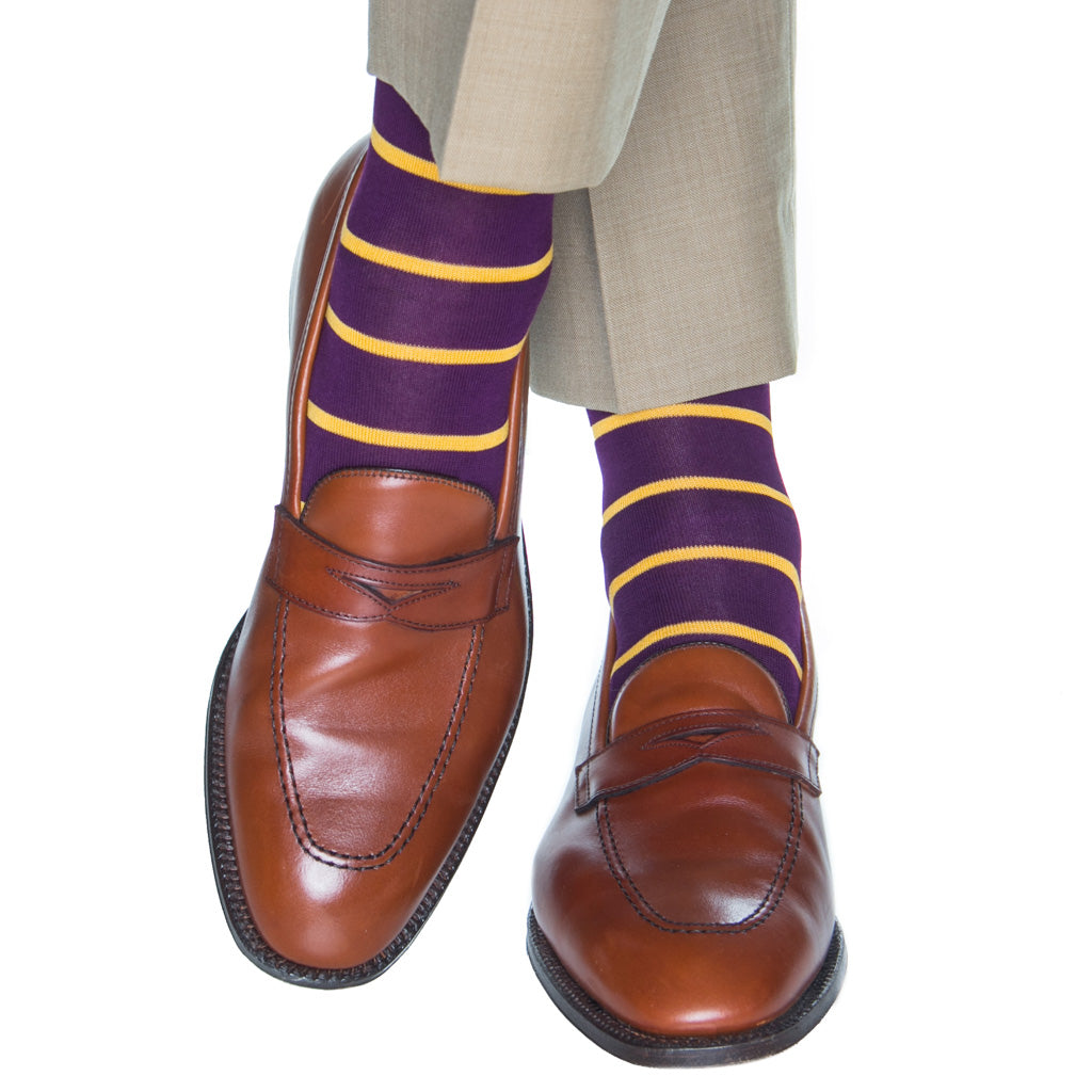 Royal Purple-Yolk Stripe Sock