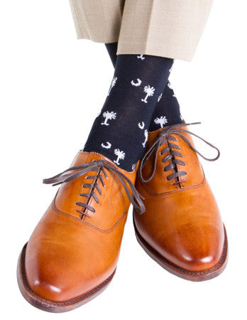 Navy-Palmetto-Crescent-Sock