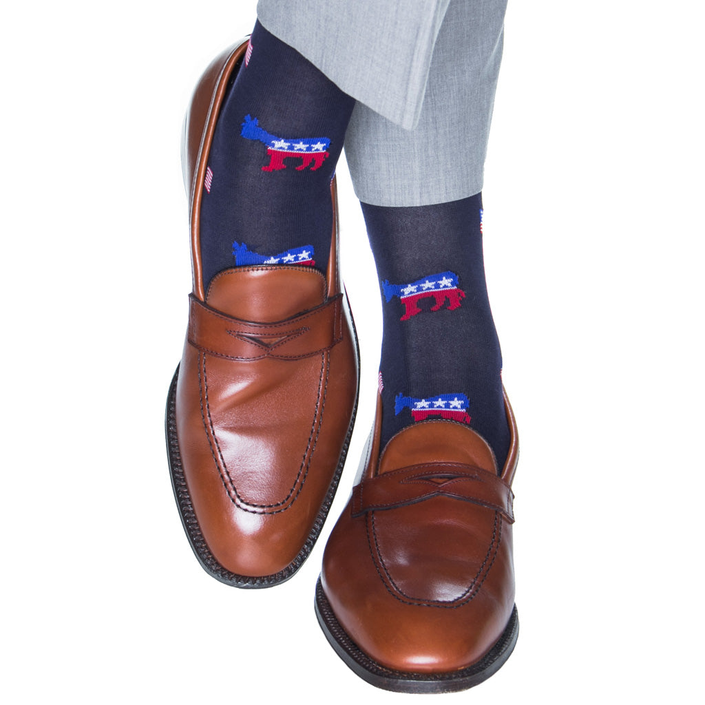 over-the-calf Patriotic Sock
