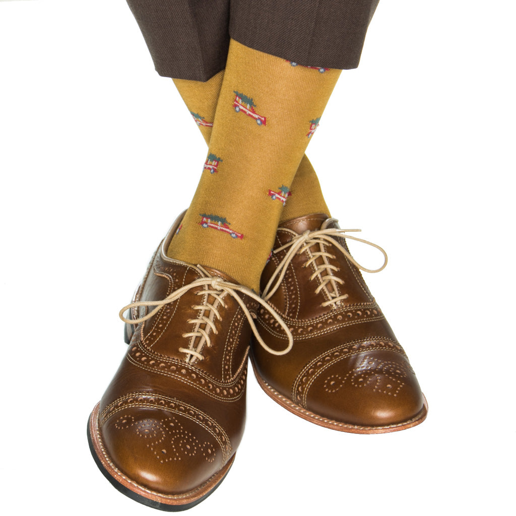 mid-calf gold and red woody tree