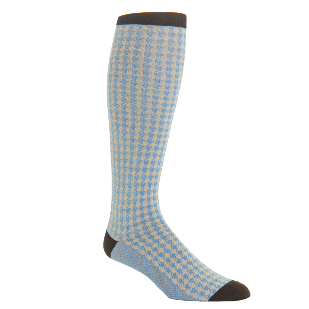 over-the-calf large houndstooth sock cotton