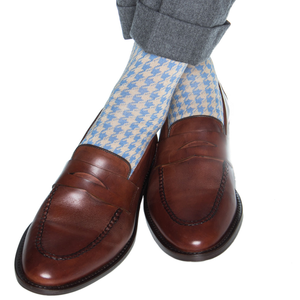 large houndstooth sock