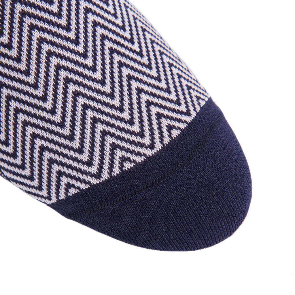 linked-toe Classic Navy-Pink Chevron