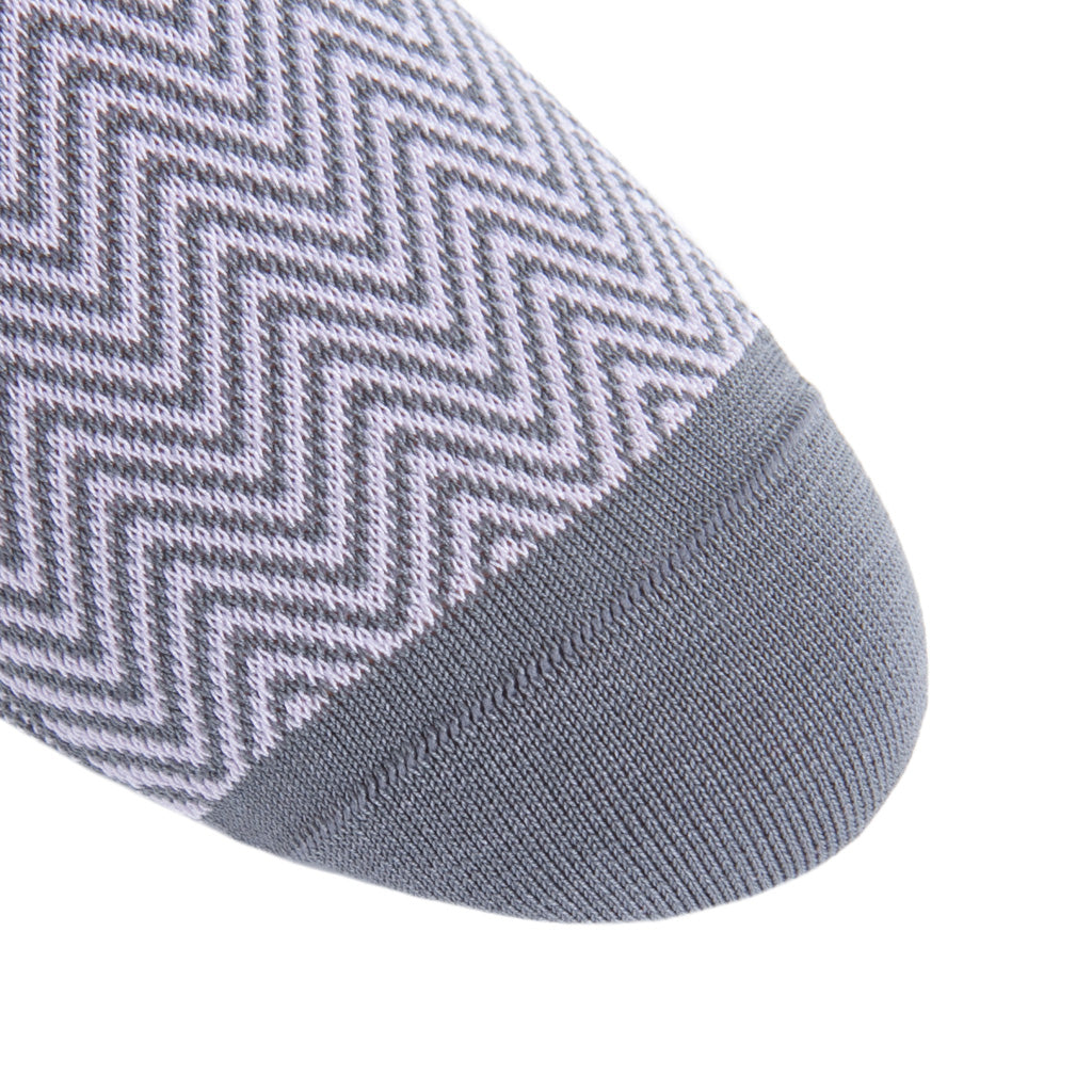 linked-toe Steel Gray-Lavender Chevron