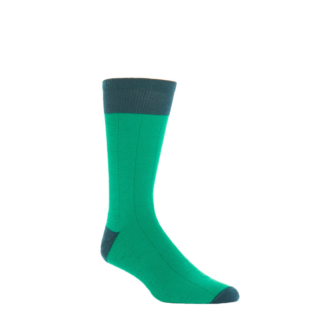 marine gren with dress navy heel and toe tipping crew length sock