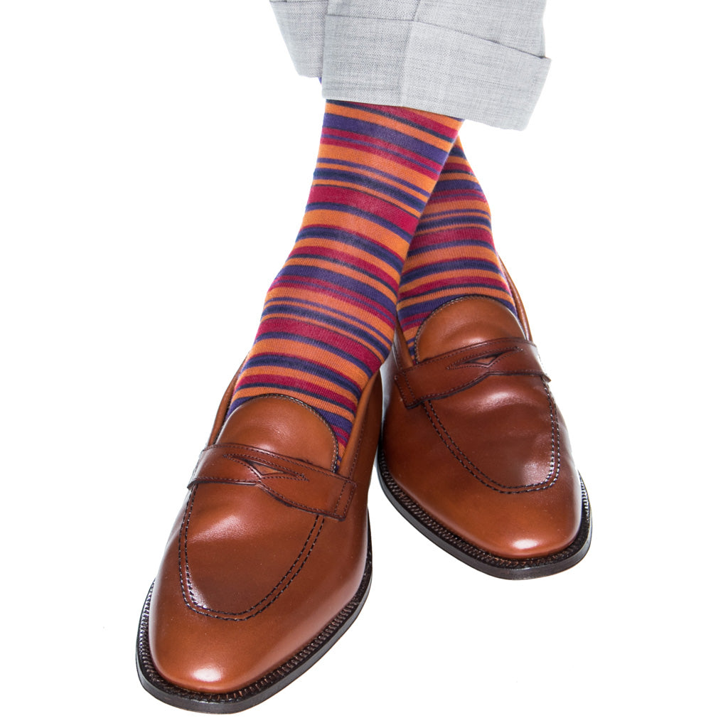 Colorful-Mens-Stripe-Sock