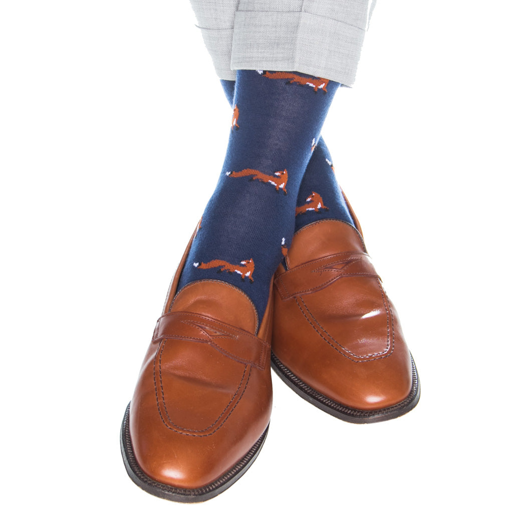 Navy-Cotton-Sock