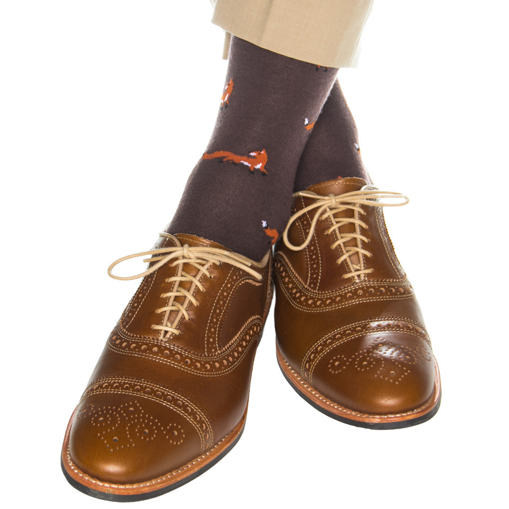 Brown-Fox-Sock