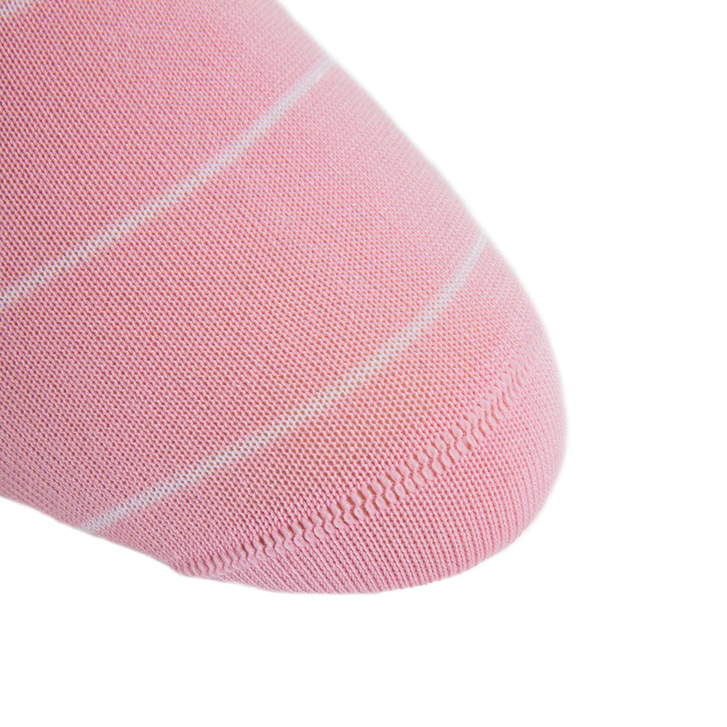 white-narrow-stripe-sock