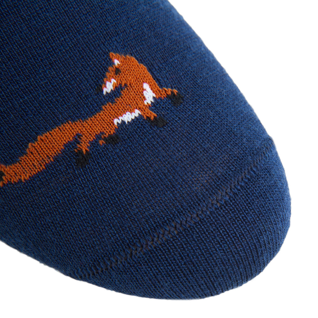 Navy-Fox-Sock