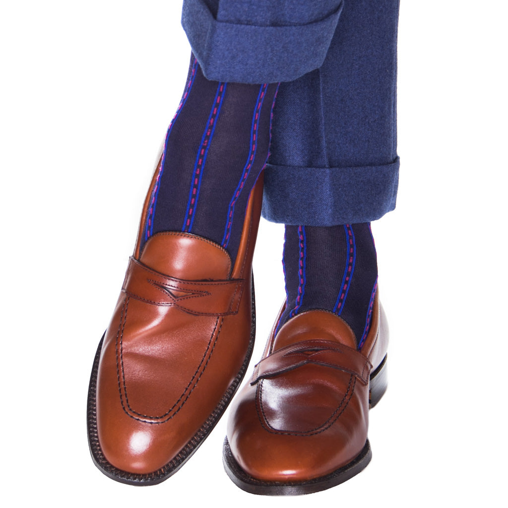 Mens-Sock-With-Ticking