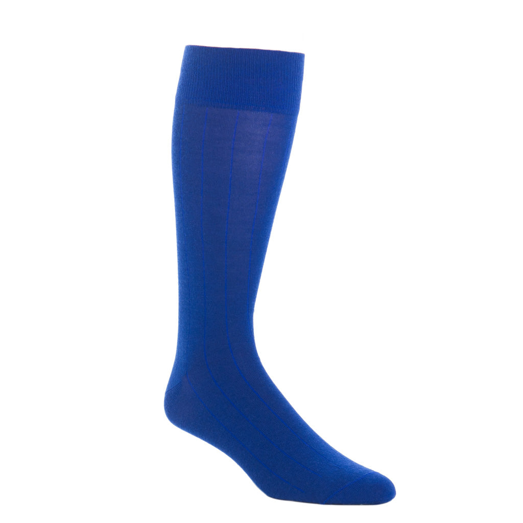 over-the-calf colbalt blue cashmere sock