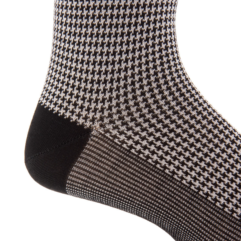 Black-Houndstooth-Sock-Mid-Calf