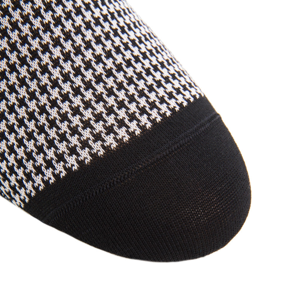 Black-Gray-Houndstooth-Sock