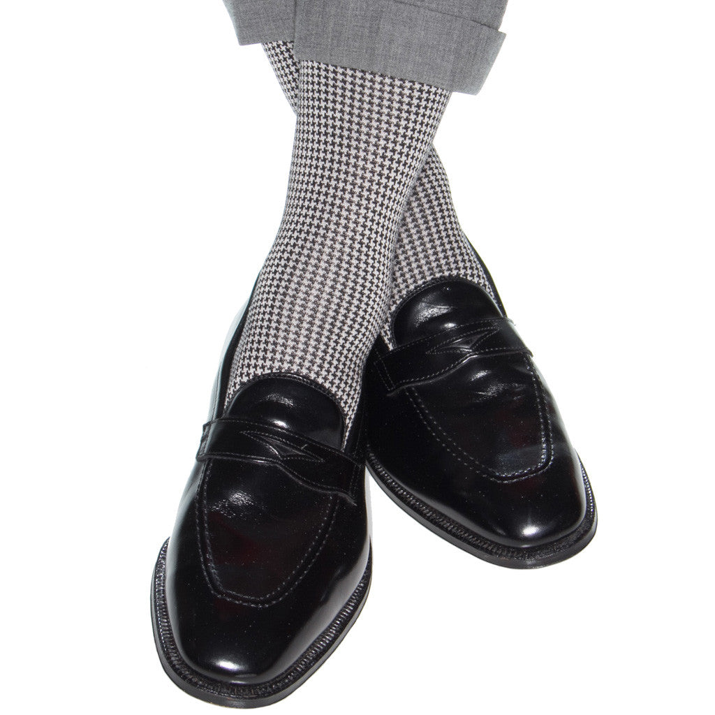 Black-Grey-Houndstooth-Sock