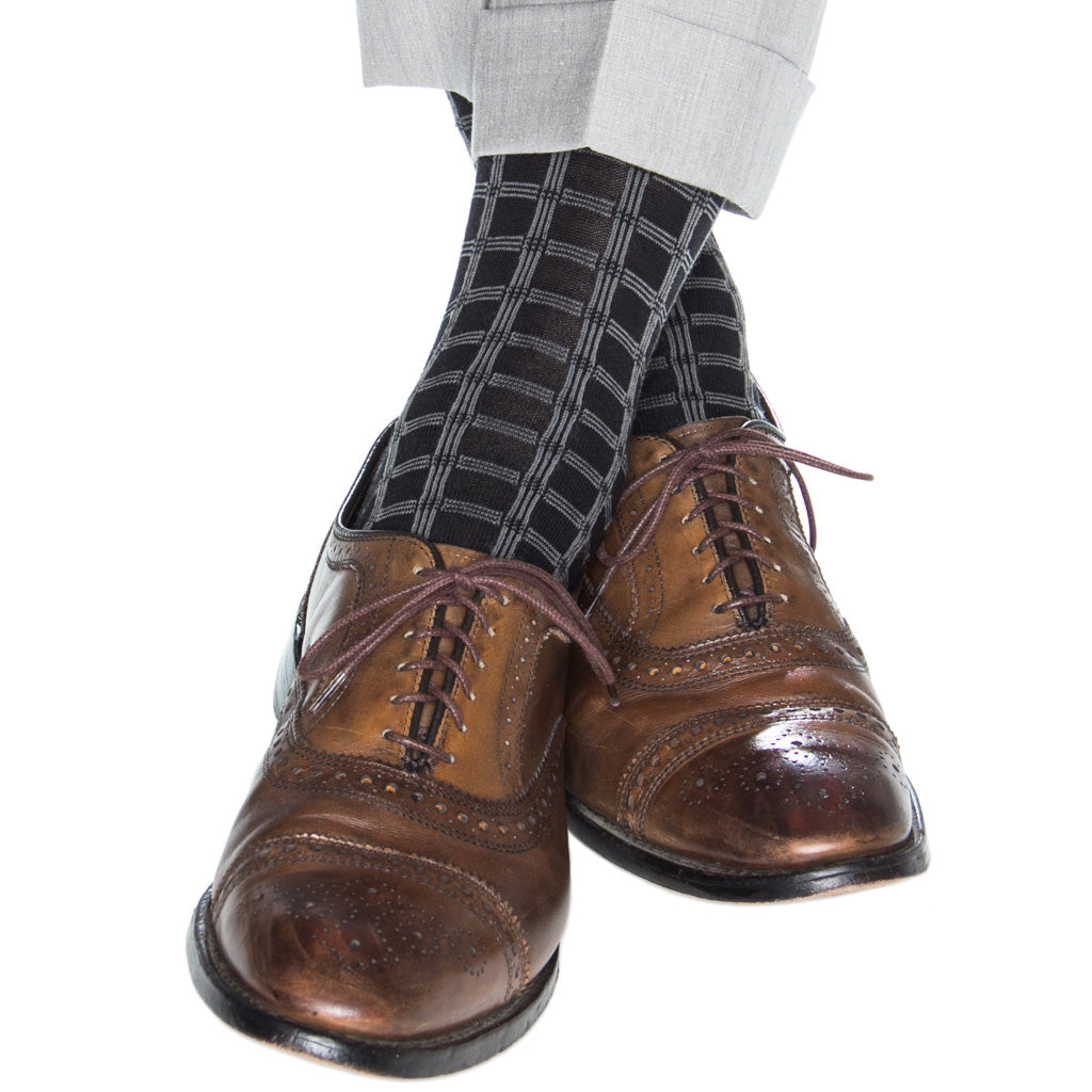 Made-In-America-Black-Gray-Wool-Double-Pane-Sock