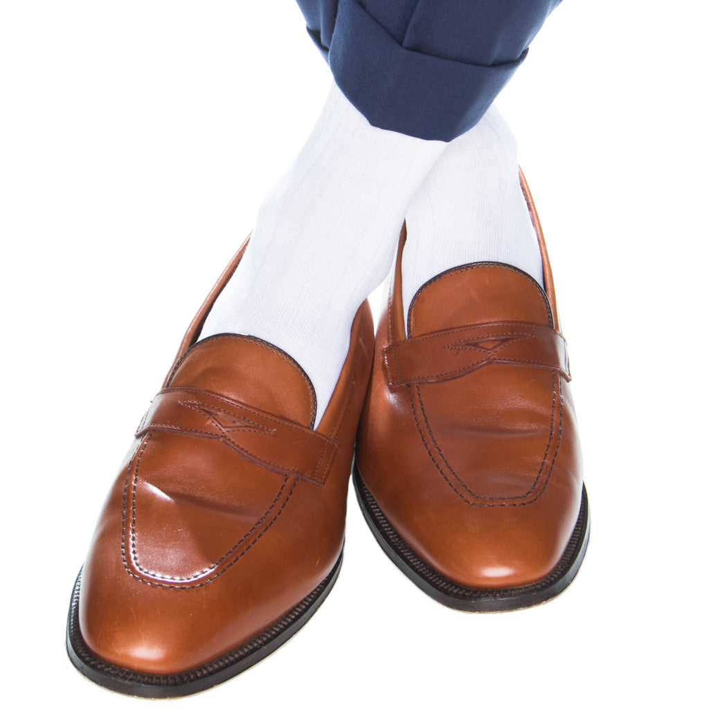 Mens-White-Sock