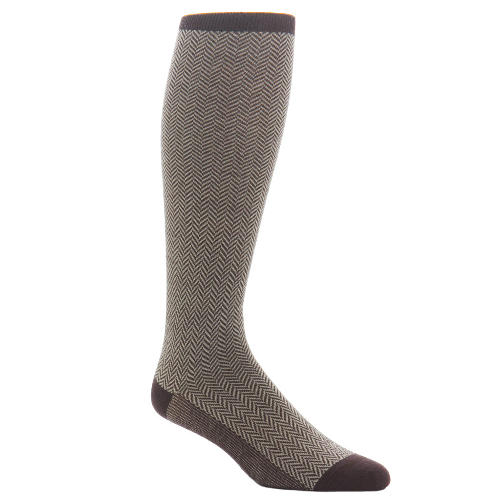 Coffee-Herringbone-Sock