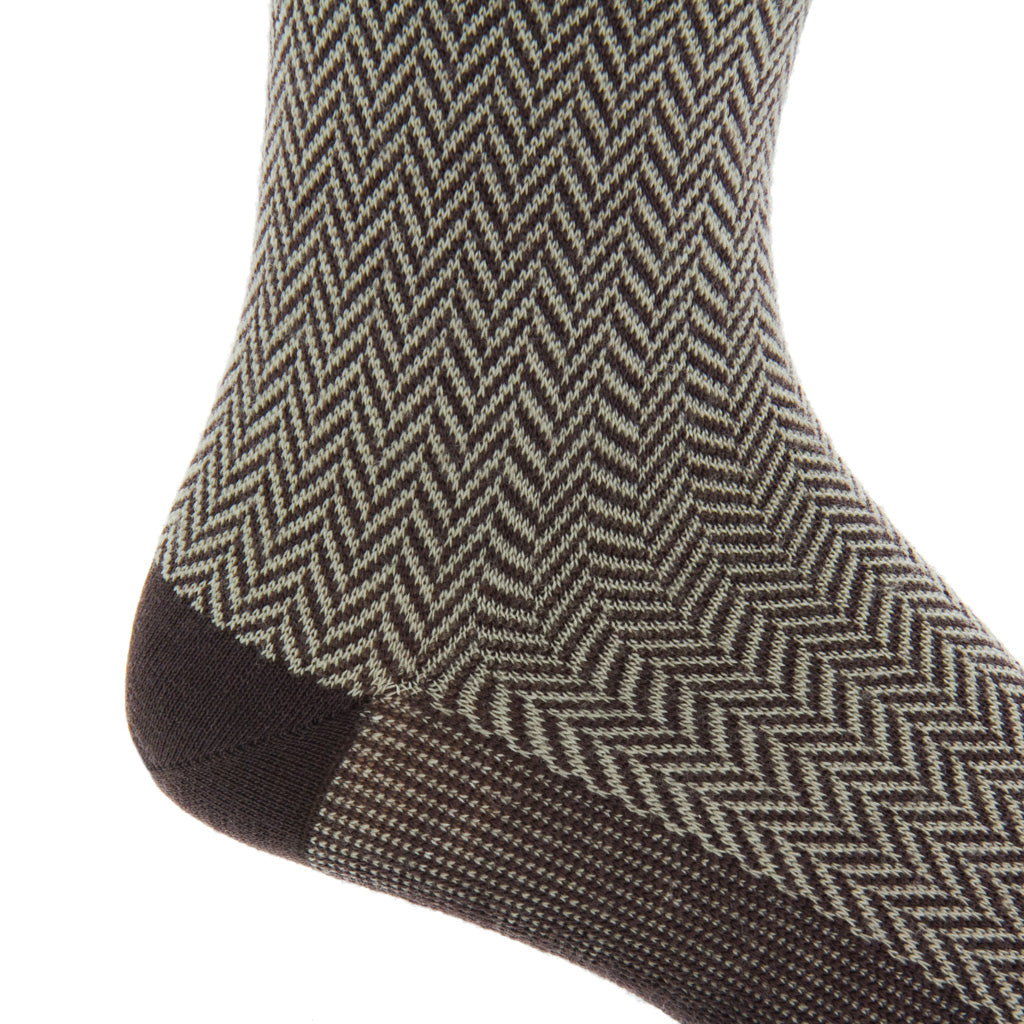Mid-Calf-Herringbone-Sock
