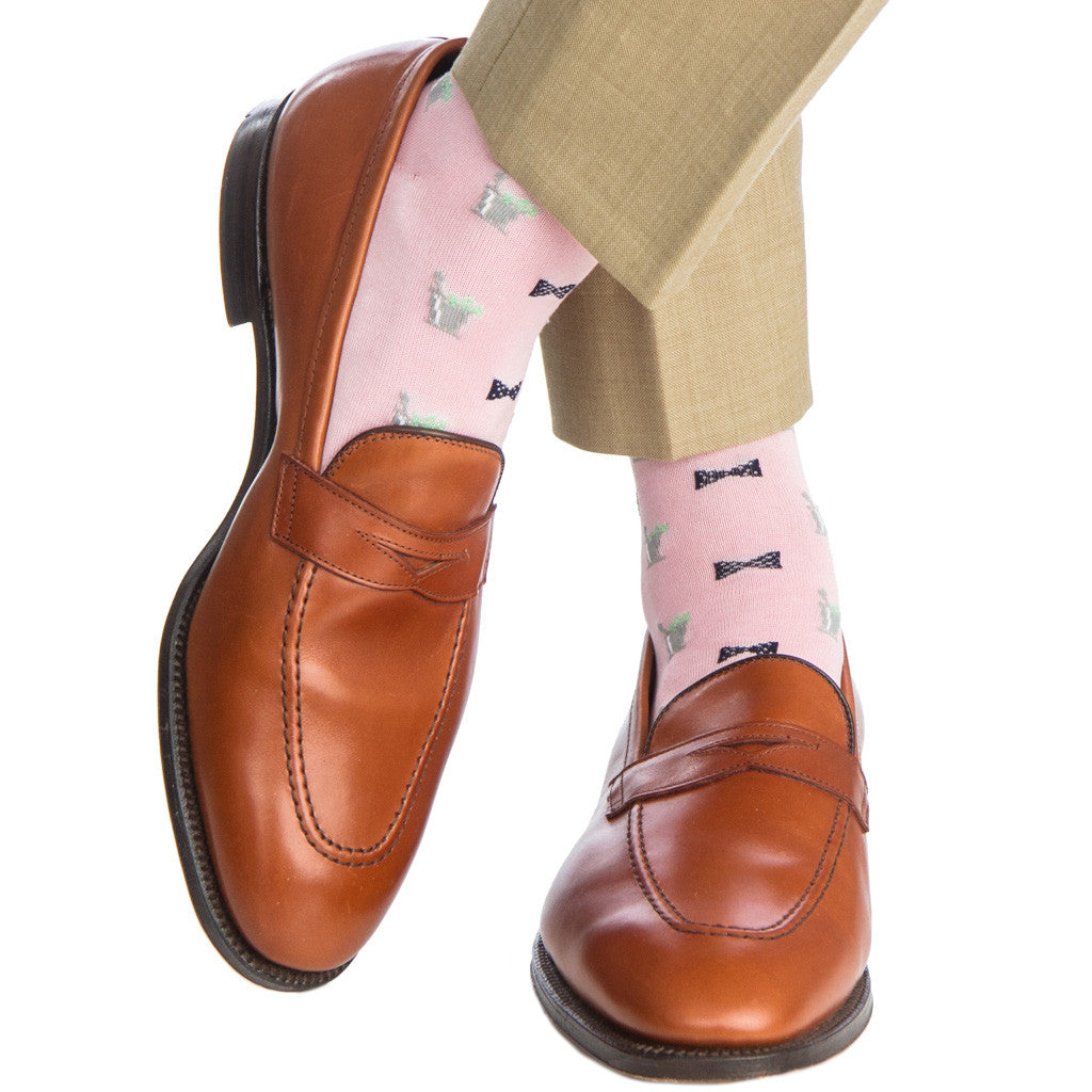 Pink-Bow-Tie-Mint-Julep-Sock