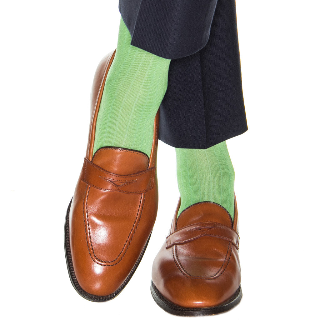 Green-Dress-Socks-Made-In-America