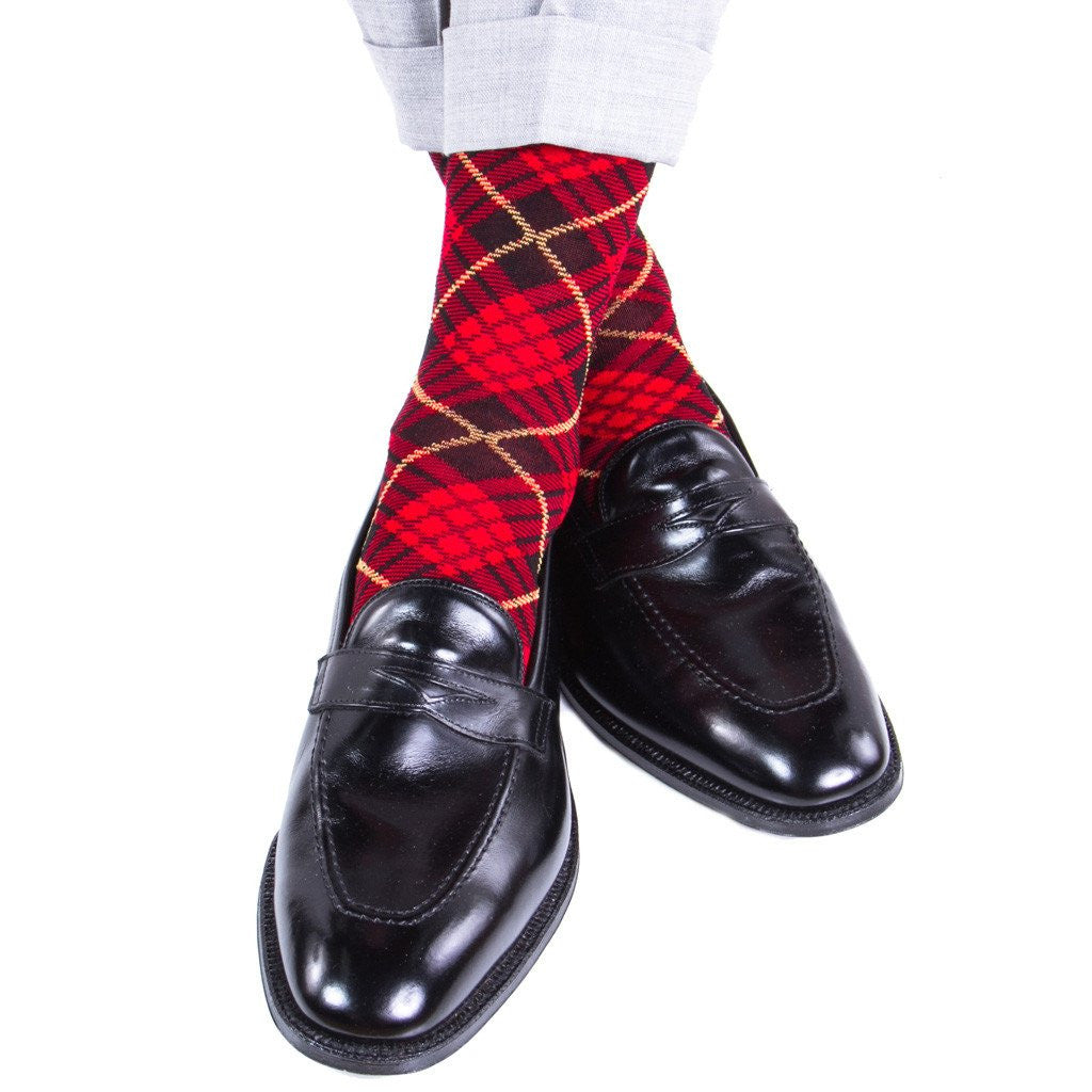 Mens-Red-Tartan-Socks-OTC