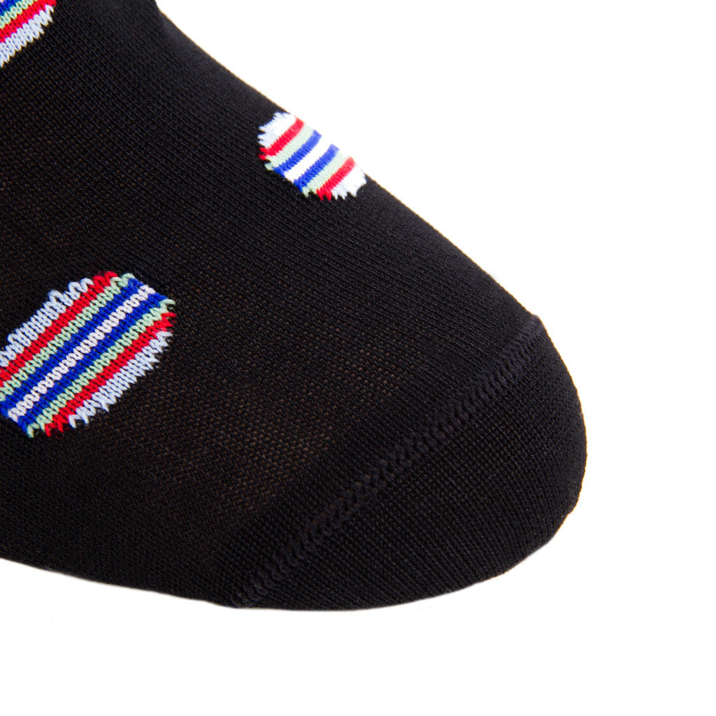 Black-Large-Dot-Mid-Calf-Sock