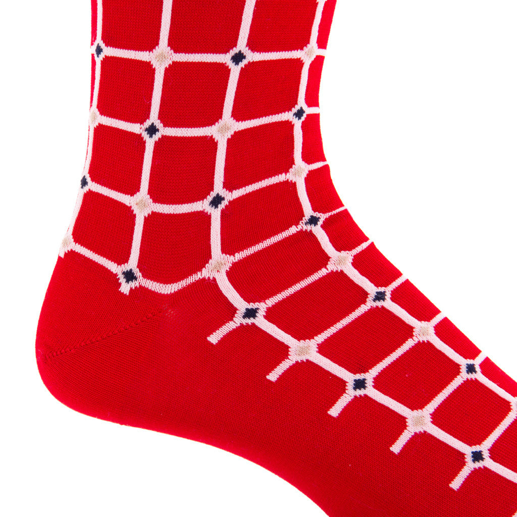 Red-Mid-Calf-Sock