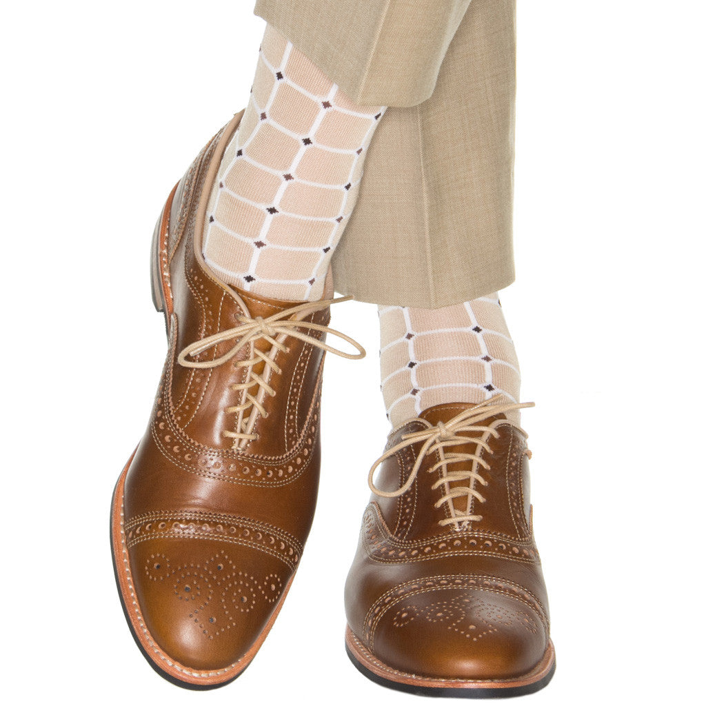 Tan-Mid-Calf-Sock