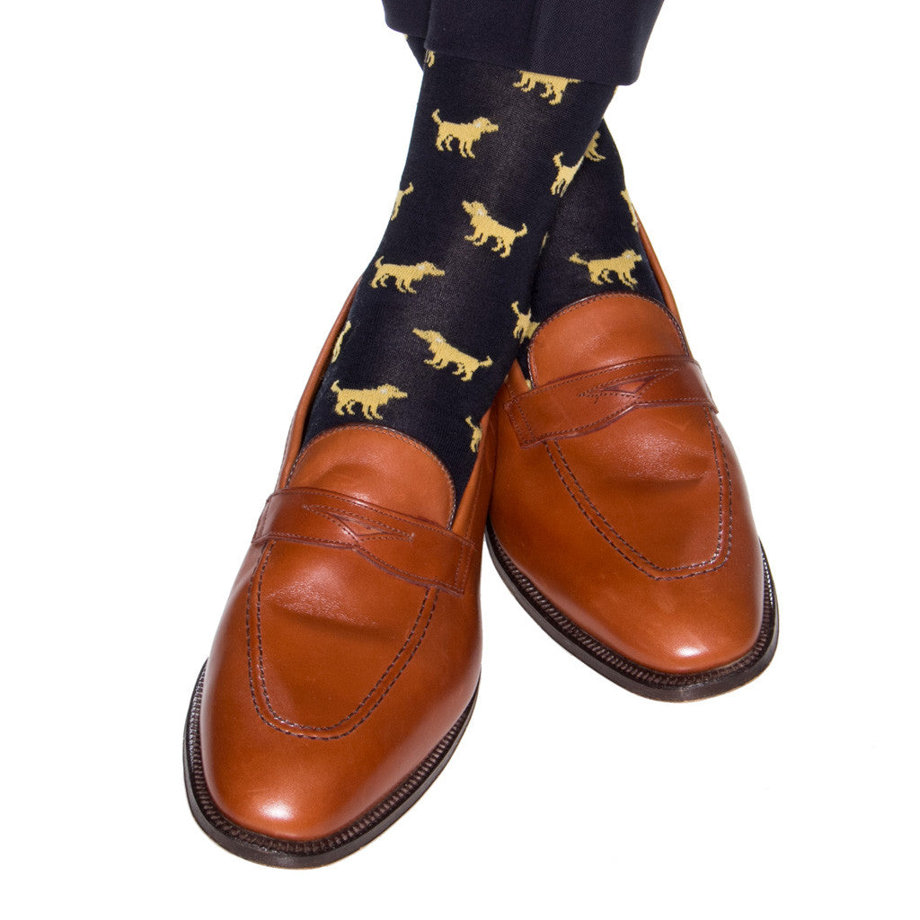 Navy-Dog-Over-The-Calf-Sock