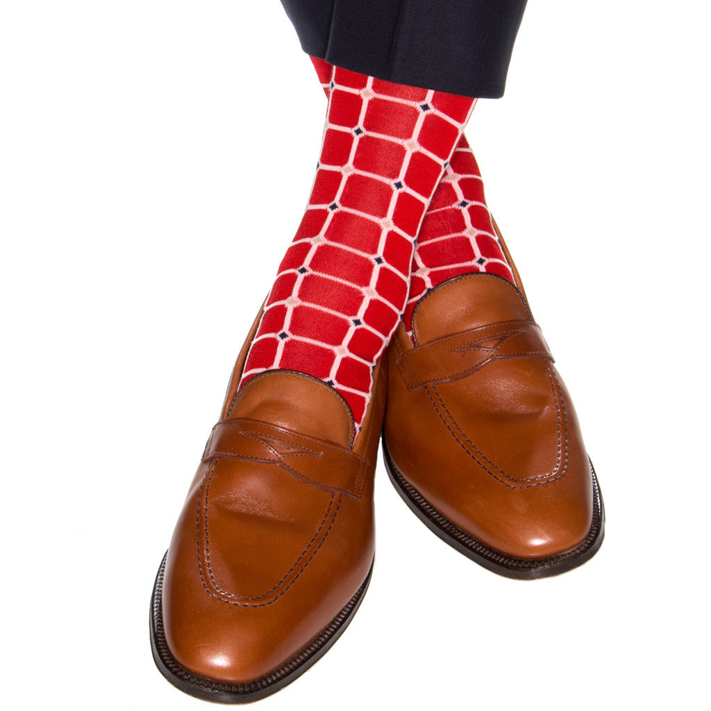 Red-Grid-Sock