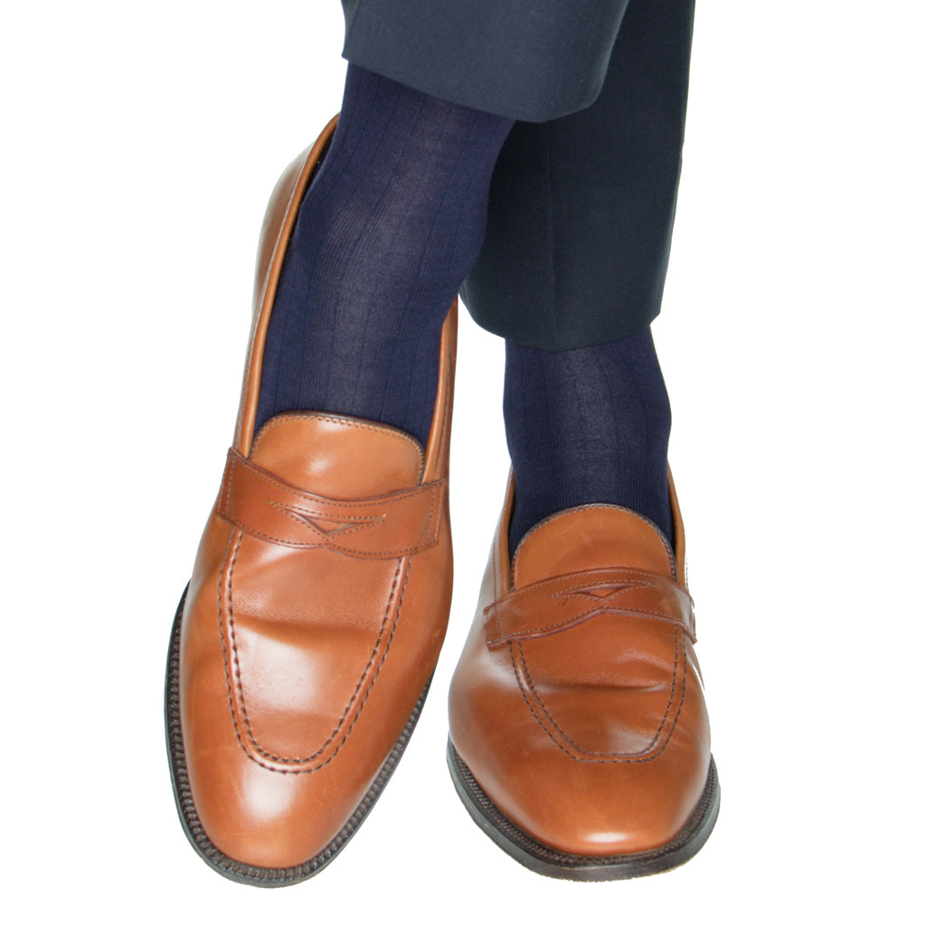 Navy-Solid-Sock