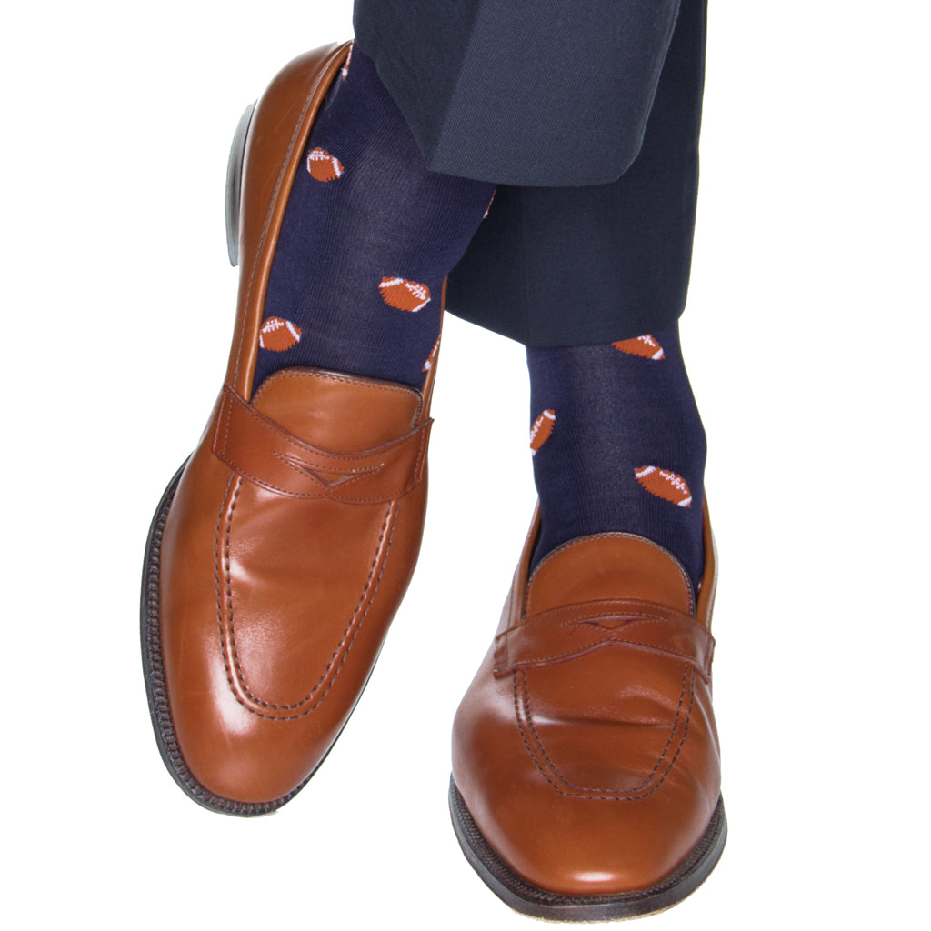 Navy-Football-Sock