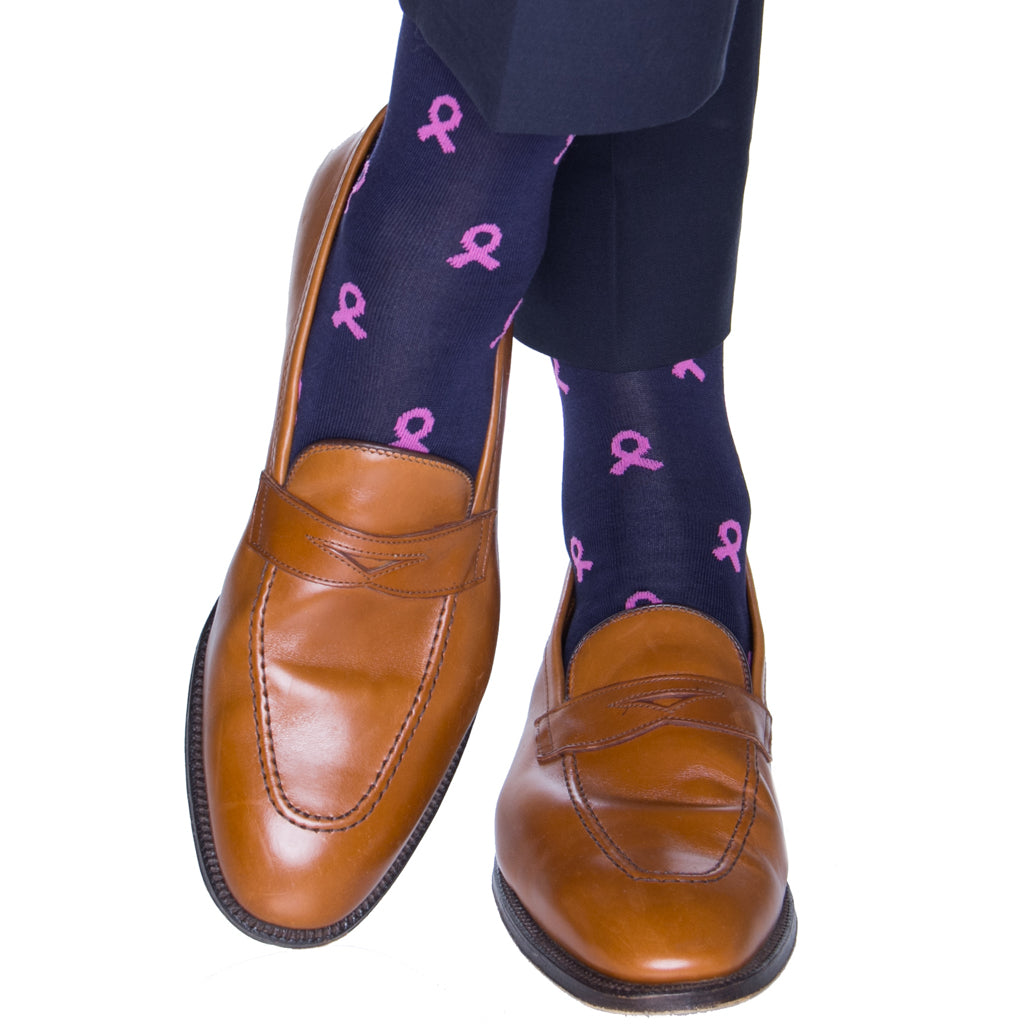 Pink-Ribbon-Sock