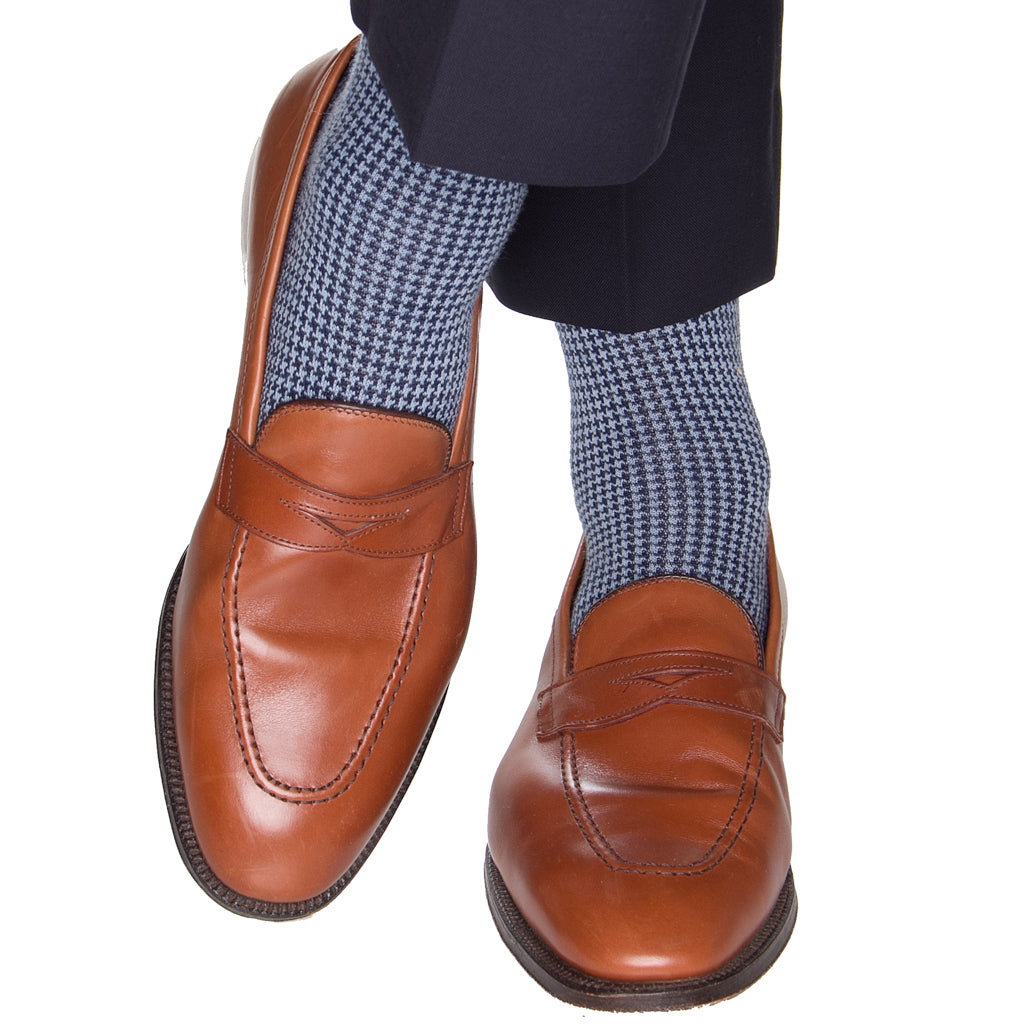 Navy-Sky-Houndstooth-Sock