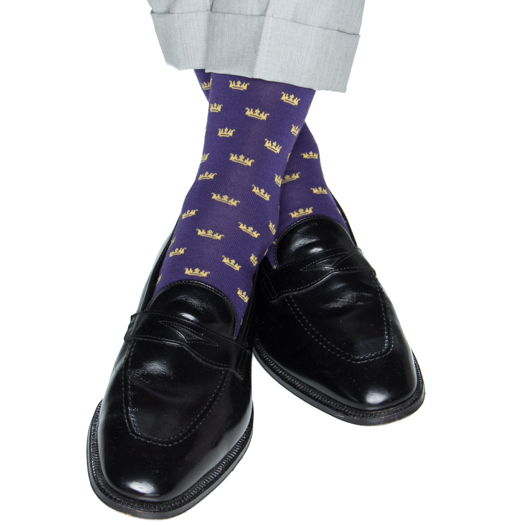Purple-Crown-Sock